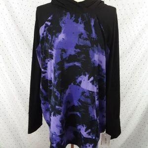 3XL Lularoe Amber black purple tie dye